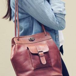 Le1950 naturel sac bandouliere cuir besace sacoche pochette vintage paul marius 5