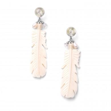 Boucles d'oreilles White Swan 12--76305  49€