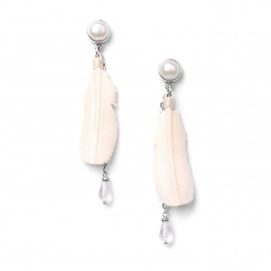 Boucles d'oreilles White Swan 12--76321  59€