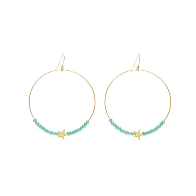 boucles-oreilles-creole-perles-turquoise-etoile-dore