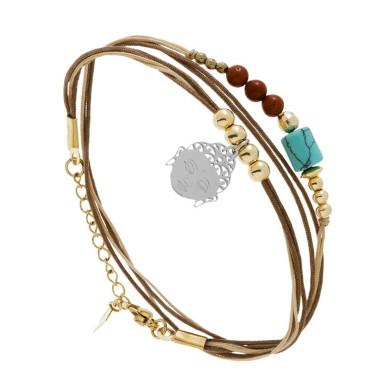 bracelet-boudha-taupe ZAG BIJOUX