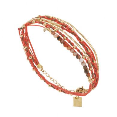 bracelet-corail-multitours-perle ZAG