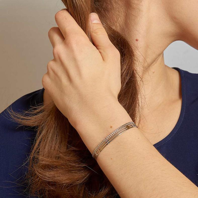 bracelet-jonc-chaine-argente-zag 24€