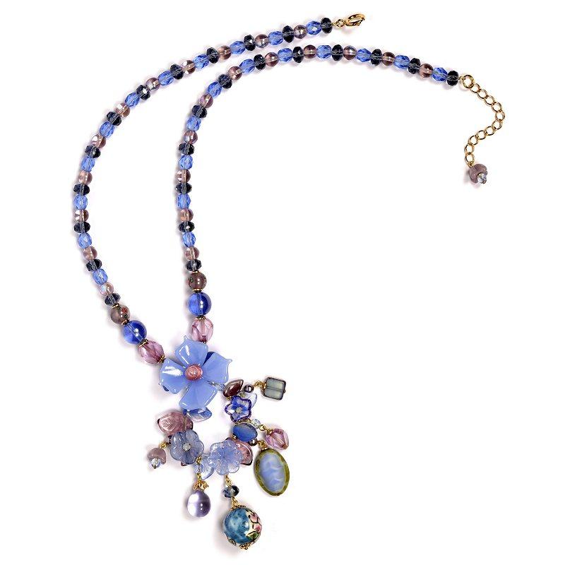 Atelier de Montsalvy Collier.Fleur.bleue.n°4 (1)