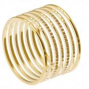 BAGUE ZAG plusieurs anneaux dorés