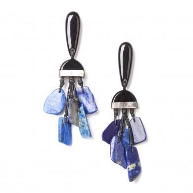 Boucles d'oreilles Deep Blue nature Bijoux