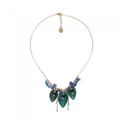 Agapanthe collier feuille nature bijoux