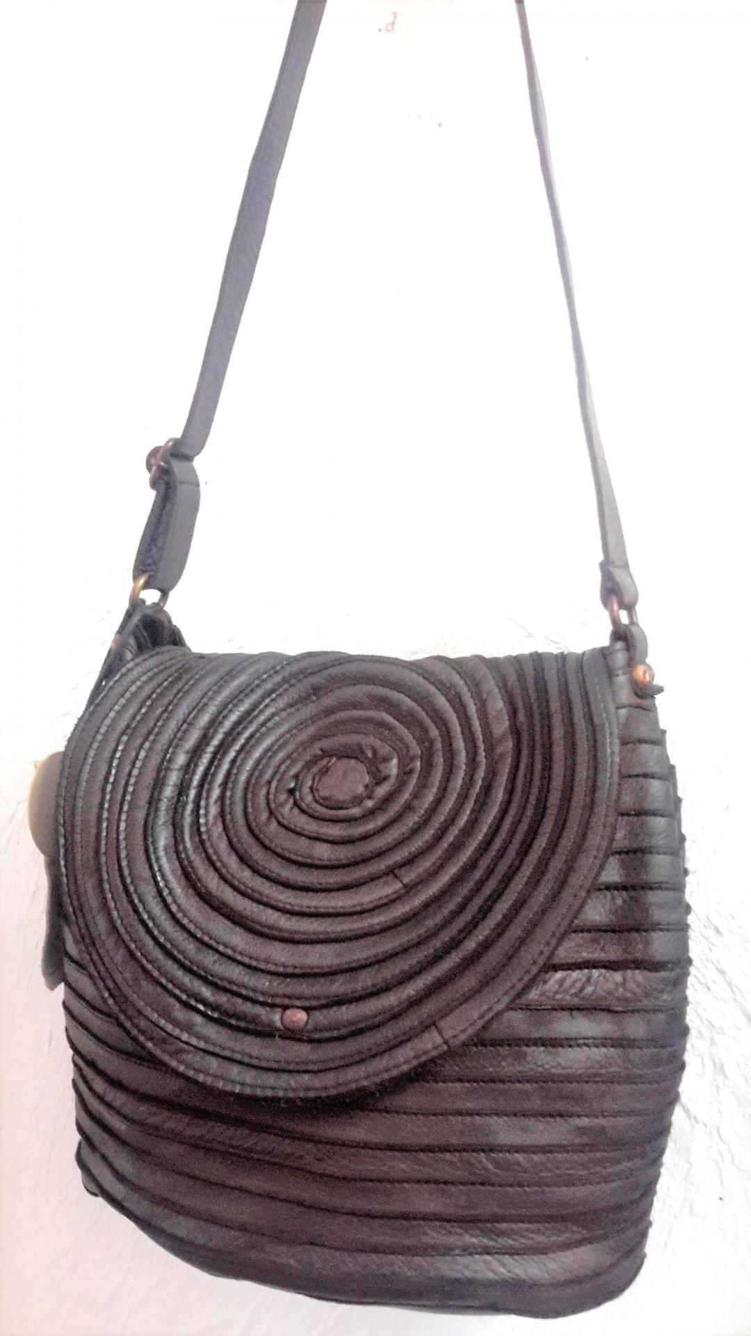 April bag art sac cercles marron bis