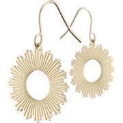 Bo 12 zag bijoux boucles d oreilles percees soleil rayonnant dorure or jaune miniature