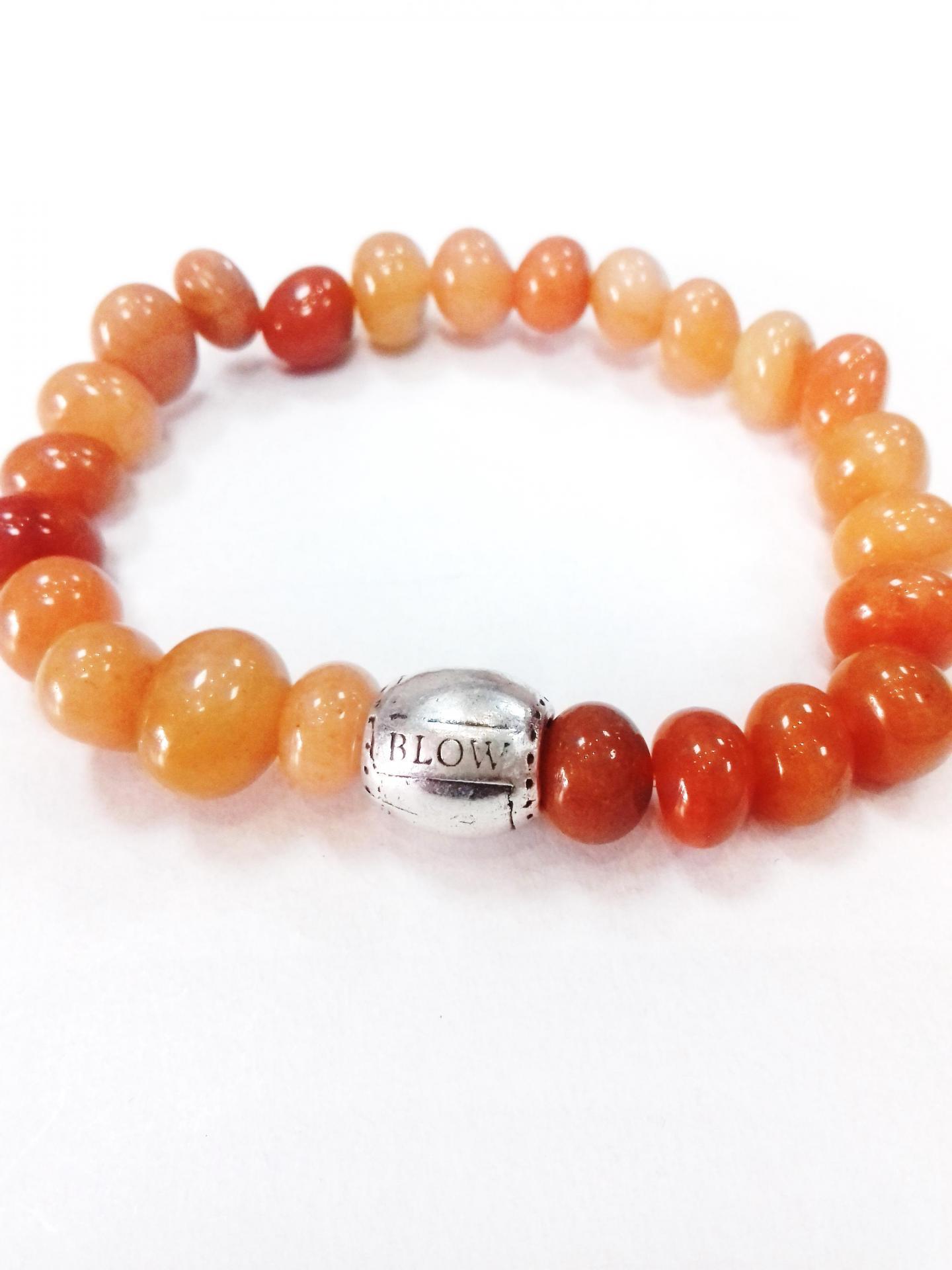 Bracelet aventurine orange blow bijoux