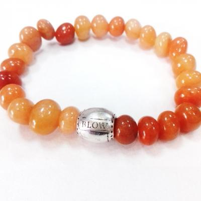 Bracelet aventurine orange blow bijoux