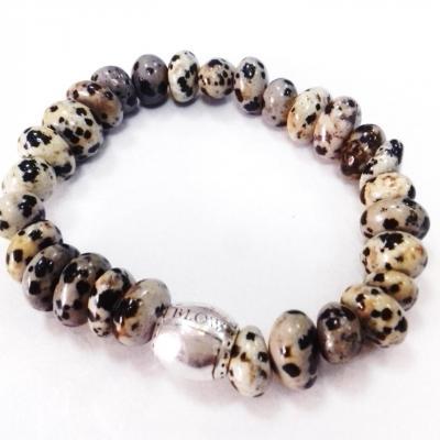 Bracelet jaspe dalmatien blow bijoux