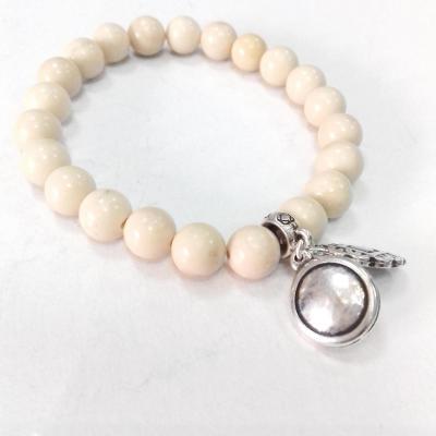 Bracelet jasper ecru blow bijoux