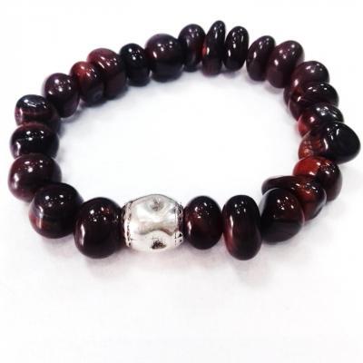 Bracelet oeil de tigre rouge blow bijoux
