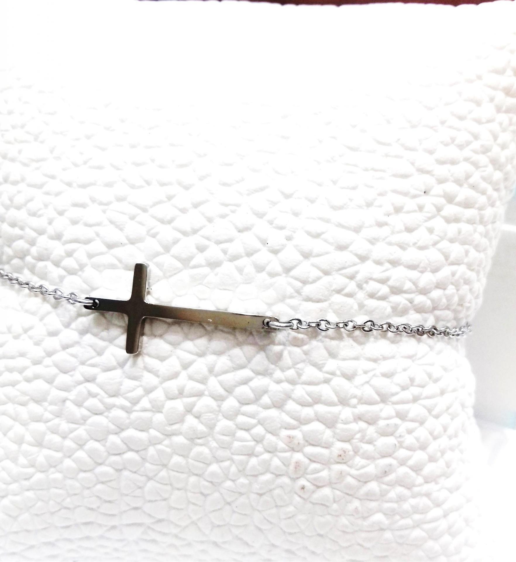 Bracelet zag croix