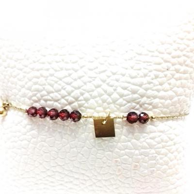 Bracelet zag pierre bordeaux