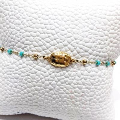 Bracelet zag turquoise