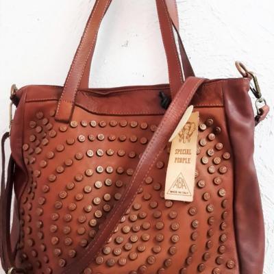 Cabbas april bag art marron clous
