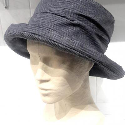 Chapeau de pluis bleu