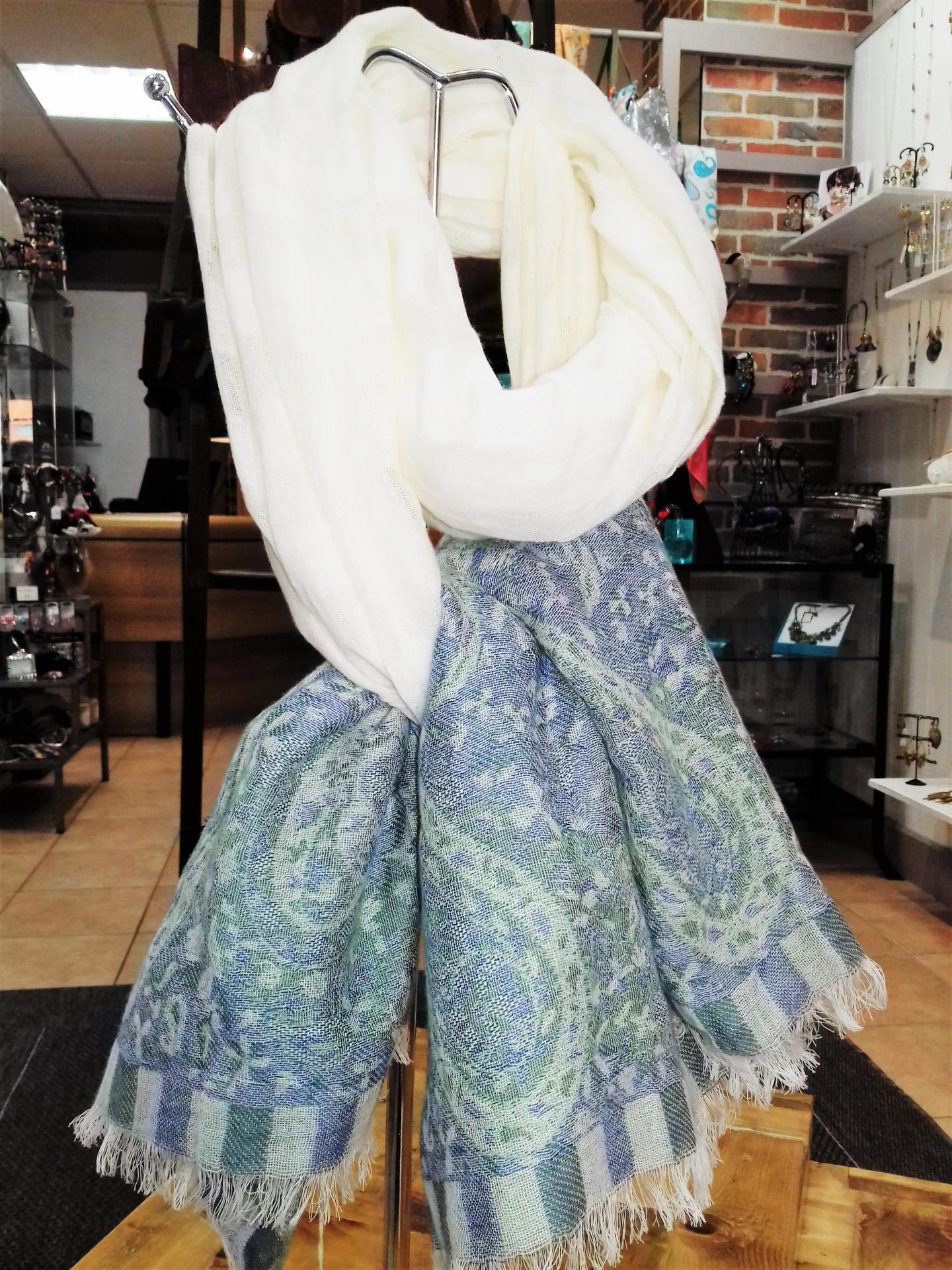 Etole coton petrusse bleu blanc