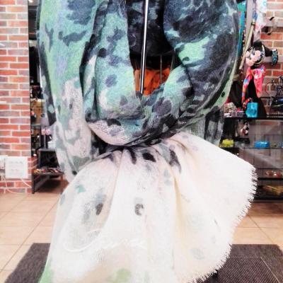 Etole laine vert petrusse