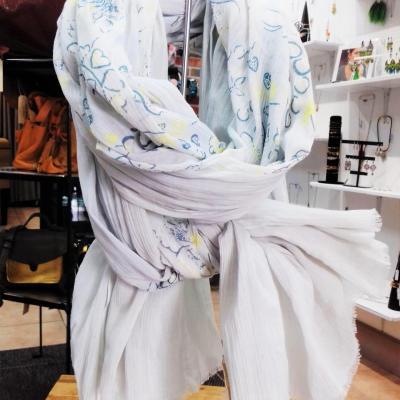 Etole petrusse coton bleu clair