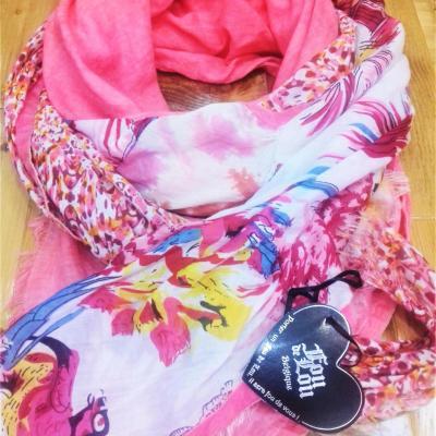 Fou de lou foulard rose