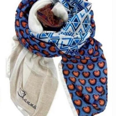 Foulard shanna 7 bleu