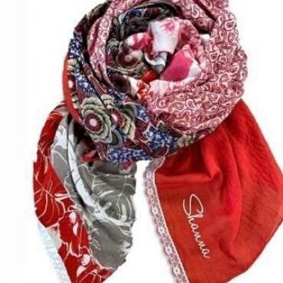 Foulard shanna rouge