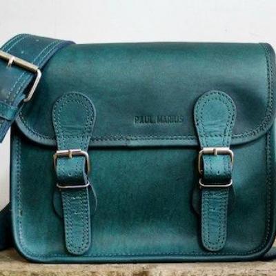 La sacoche s cobalt sac bandouliere cuir besace sacoche pochette vintage paul marius 1