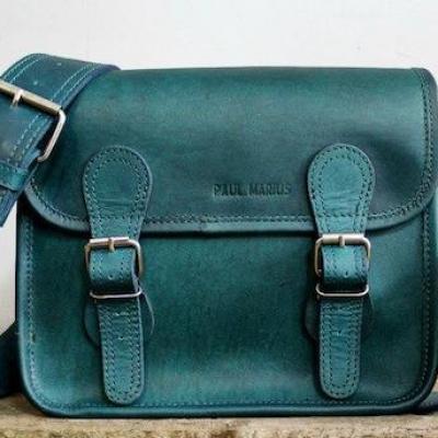 La sacoche s cobalt sac bandouliere cuir besace sacoche pochette vintage paul marius 3