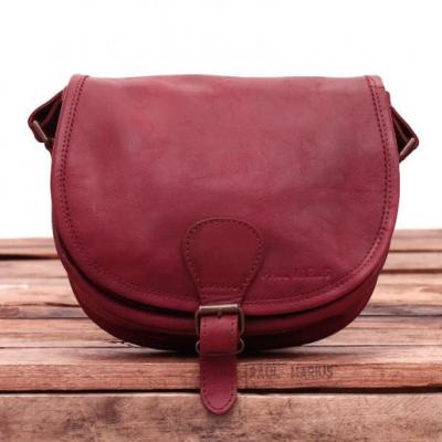 Le bohemien sac bandouliere cuir besace sacoche pochette vintage bordeaux paul marius1