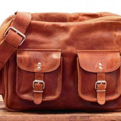 Le multipoches naturel sac cuir besace sacoche bandouliere vintage paul marius 109 90