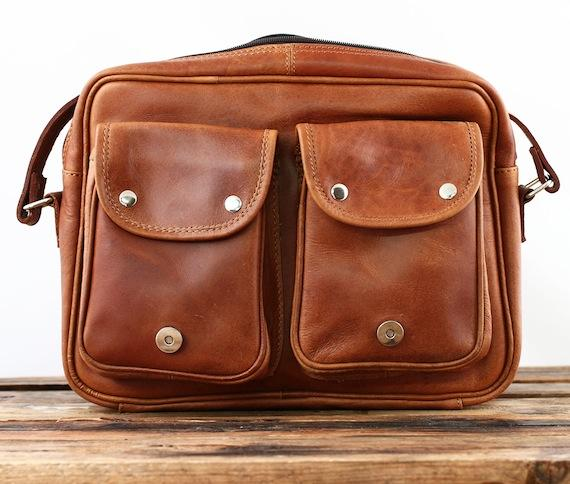 Le rouen naturel leather shoulder bag postmann messenger vintage paul marius 2