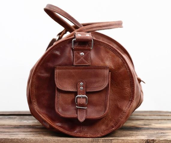 Le voyageur xl naturel bolso de viaje de cuero bolso bombonera petate vintage paul marius 5