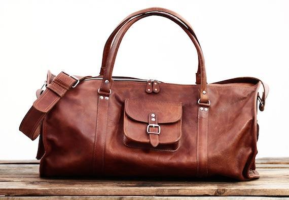 Le voyageur xl naturel sac de voyage cuir fourre tout week end vintage paul marius 1