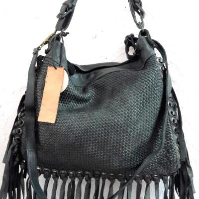 Sac april bag art vert franges
