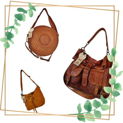 Sac cuir april bag art roanne