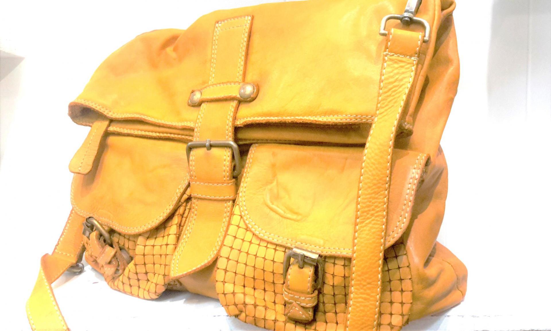 Sac jaune 2 poches