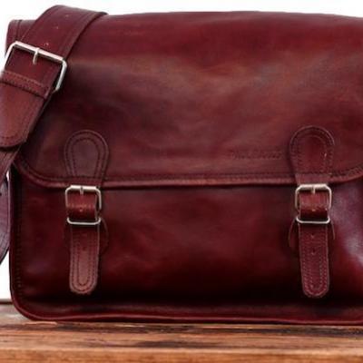 Sacoche m brun d automne paul marius sacoche cuir vintage vintage leather satchel paul marius 1