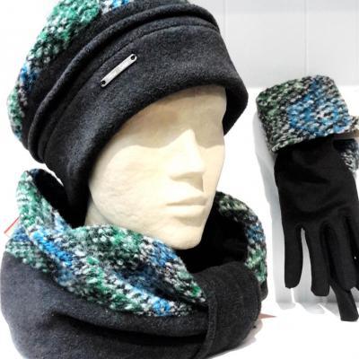Snood bonnet gant