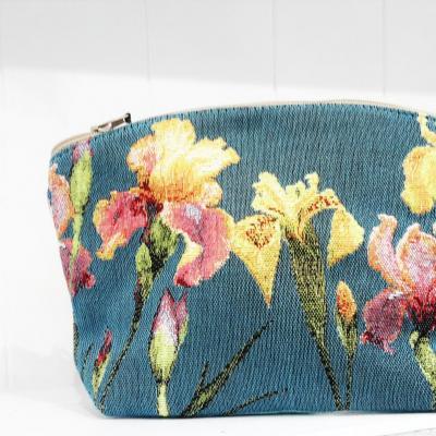Trousse fleurs bleu b