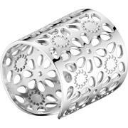 Zag bijoux anneau ajoures martele en acier reglable miniature