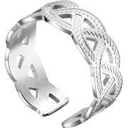 Zag bijoux anneau entrelacs en acier reglable miniature