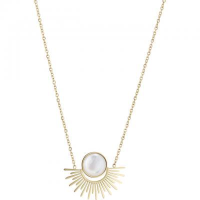 Zag bijoux collier ras de cou dorure or jaune nacre a3